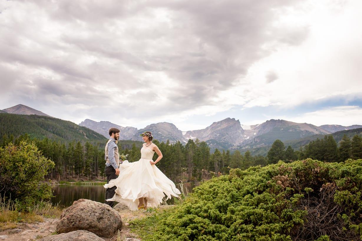 Sprague Lake Wedding Photography | Colorado Wedding Photographer | Estes Park, Colorado | From the Hip Photo