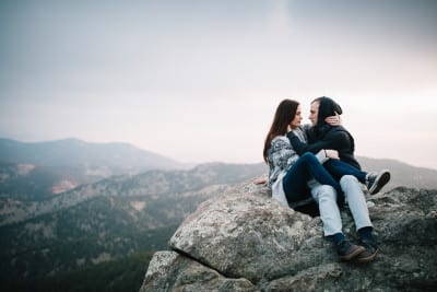 Jordan & Nathan   Lost Gulch Overlook Engagement Photography   From the Hip Photo