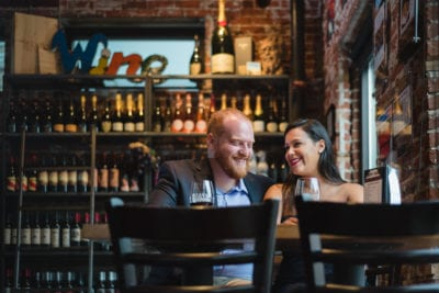 Emily & Brendan | Denver Wine Bar Engagement Photography | From the Hip Photo