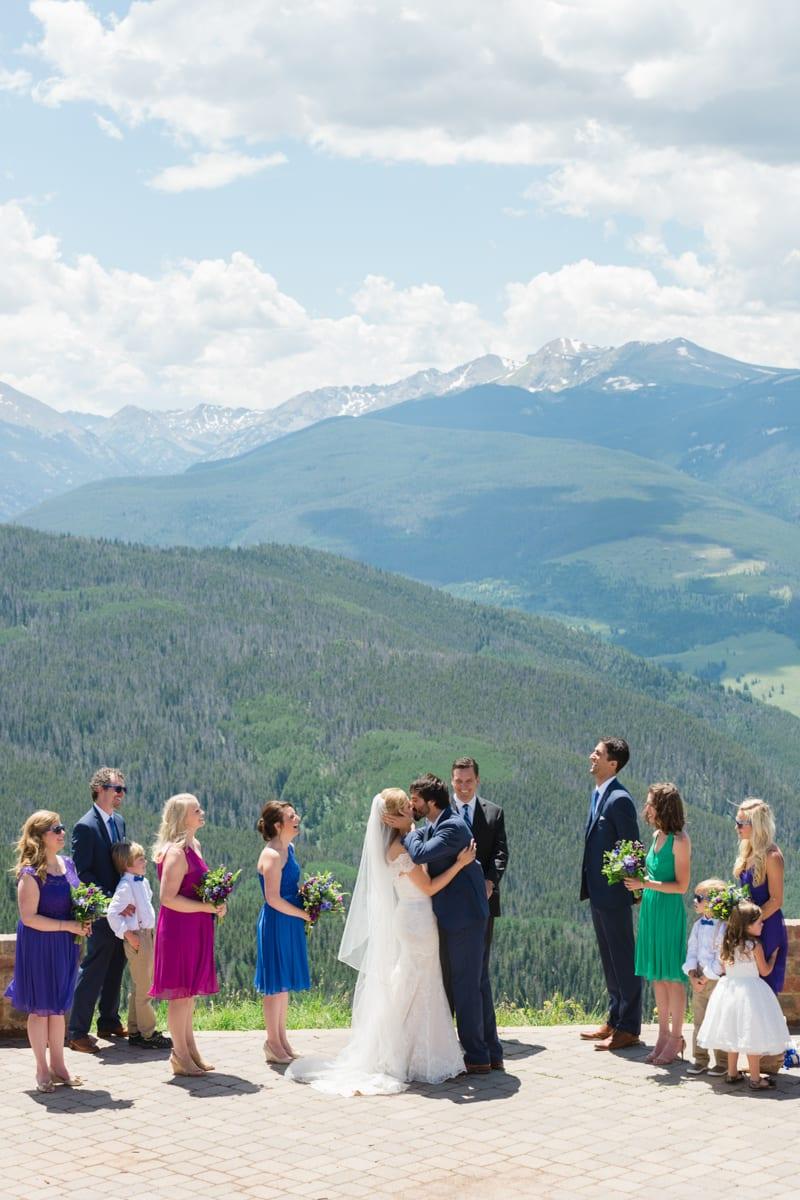 Matt Amp Lindsay Outdoor Vail Wedding Vail Wedding Deck