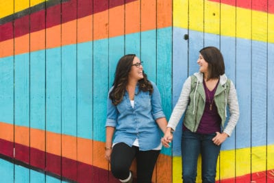 Colorful RiNo Engagement Photography | RiNo Denver | From the Hip Photo