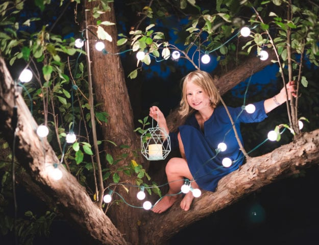 Outdoor Fairy Light Photos | Boulder, CO | Family Photography | From the Hip Photo