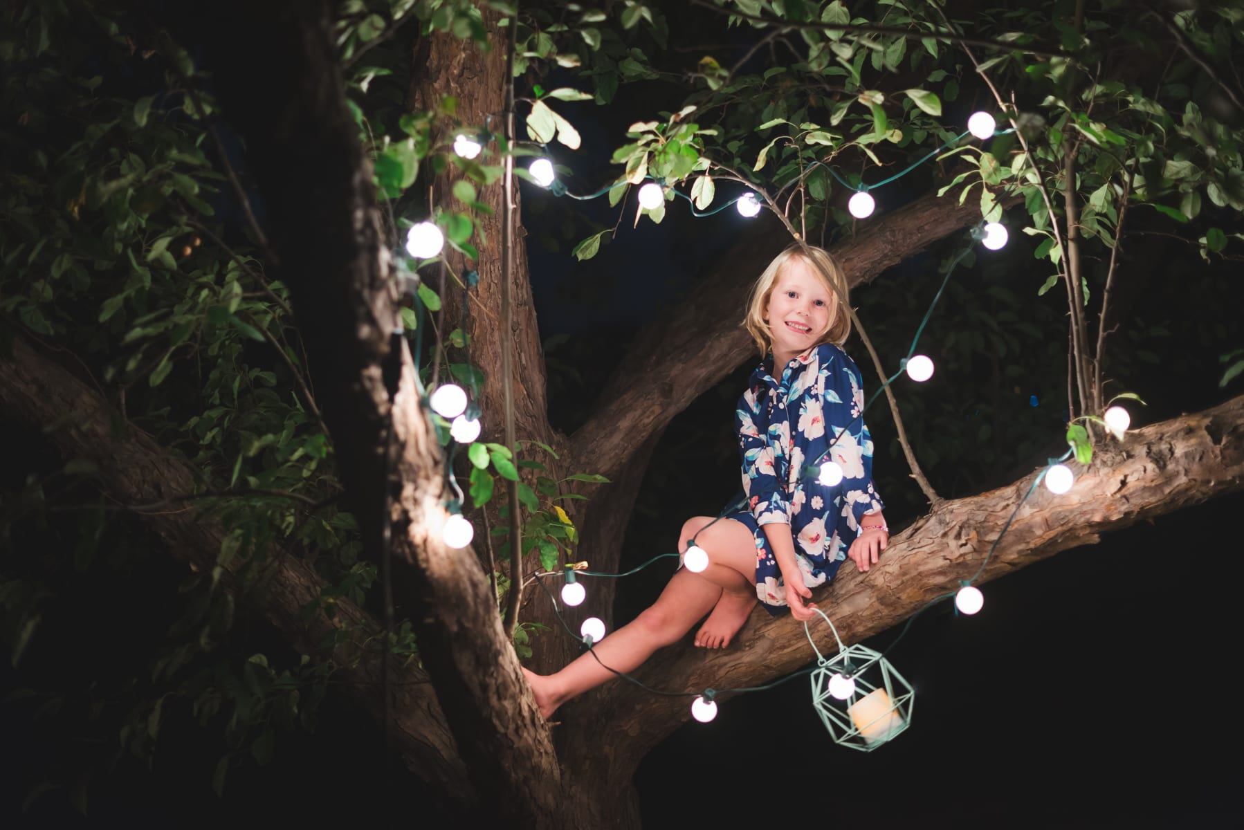 Outdoor Fairy Light Photos   Boulder, CO   Family Photography   From the Hip Photo