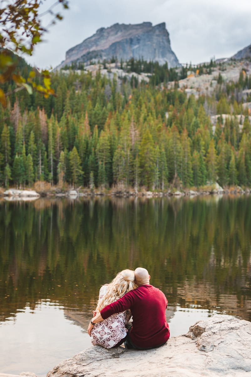 Rocky Mountain National Park Fall Engagement Photos | Bear Lake Colorado | Engagement Photography | From the Hip Photo