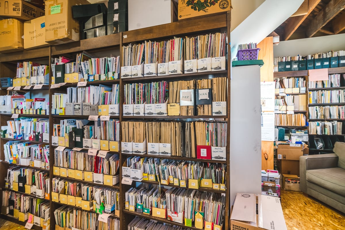 The Denver Zine Library | Retail Space Photography | From the Hip Photo