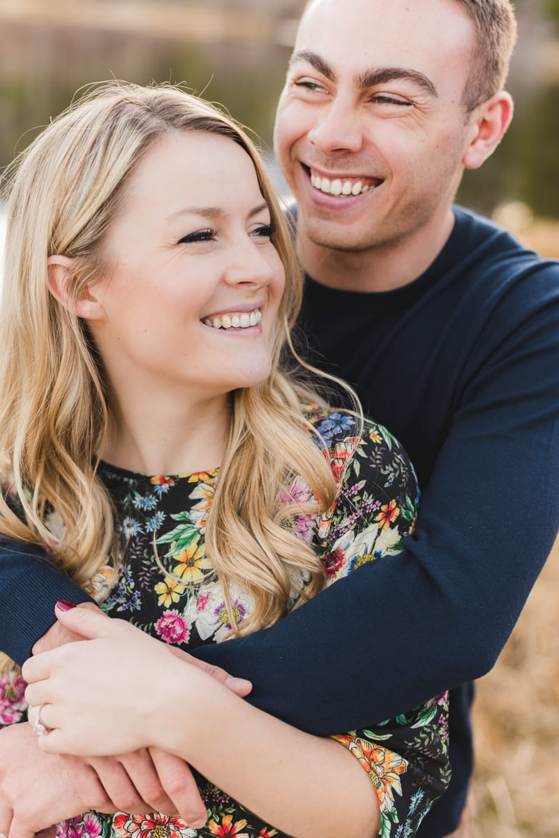 Romantic Rocky Mountain National Park Engagement Photography at Sprague Lake | From the Hip Photo