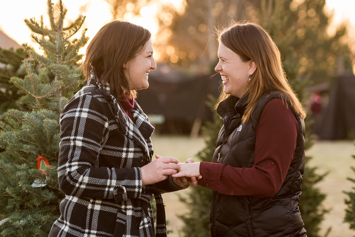 Surprise Engagement In A Tree Nursery | Engagement Photography | Creekside Tree Nursery | From the Hip Photo