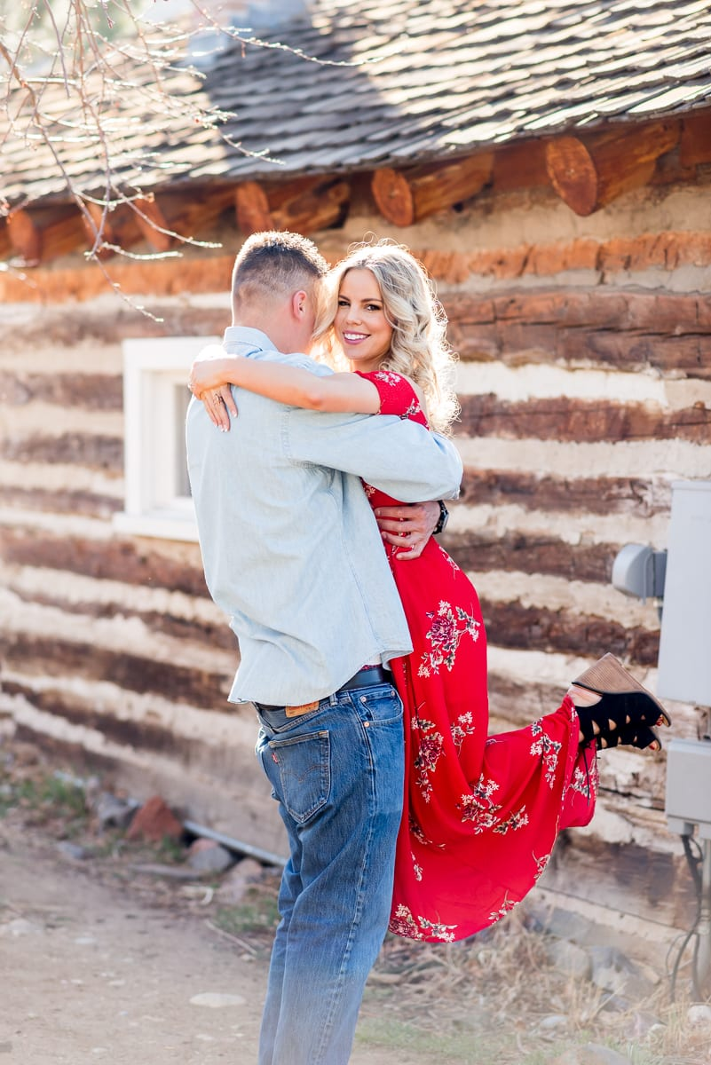 Chicly Rustic Engagement Photos | Engagement Photography | Golden, CO | From The Hip Photo