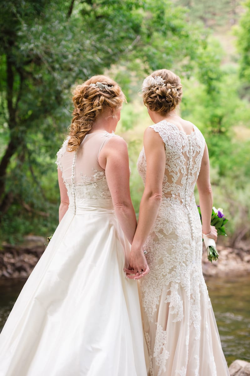 Two Brides In Lace Wedding Photography Boulder Co