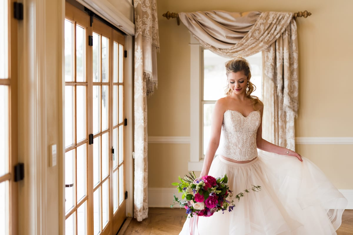Bride and Wedding Bouquet | Wedding Photography | Flying Horse Ranch | From The Hip Photo