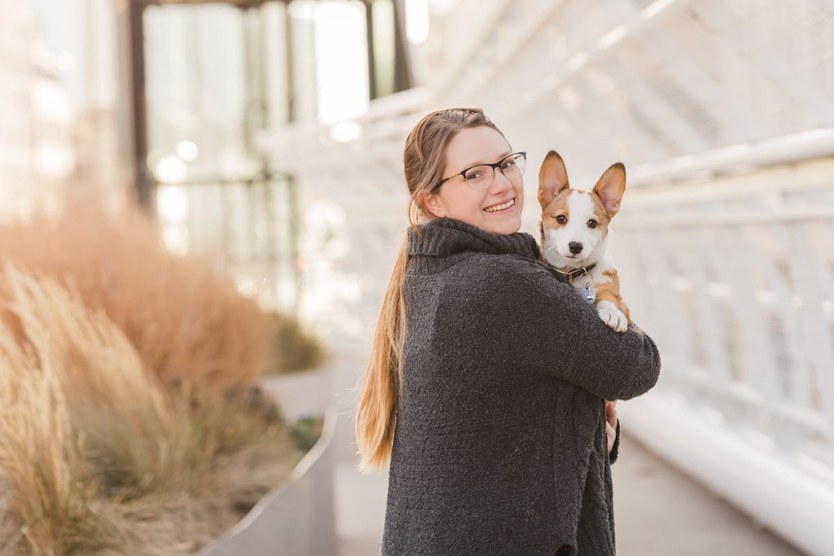 Headshot with Corgi | Pets In Human Photo Session