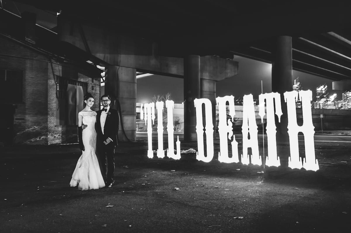 Gothic Themed Wedding | Wedding Photography | Oxford Hotel | From the Hip Photo