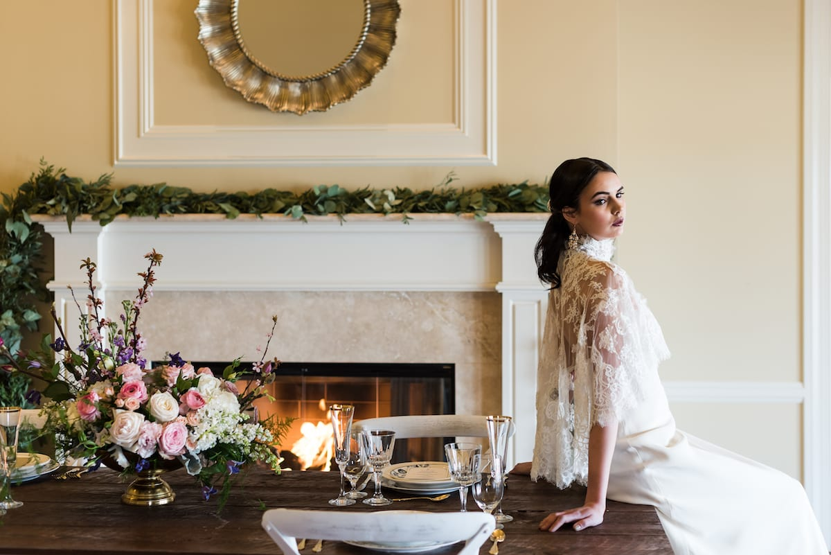 Bride and Wedding Table | Wedding Photography | Flying Horse Ranch | From The Hip Photo
