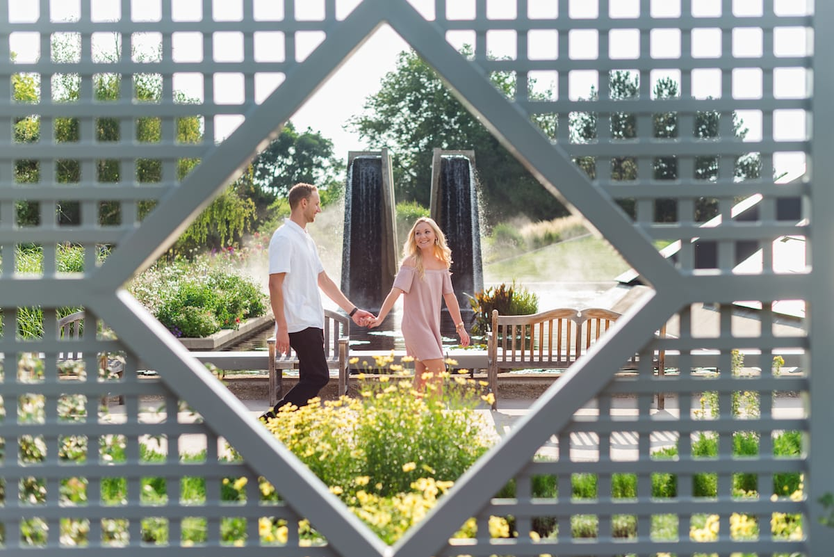 Botanic Gardens Engagement | Engagement Photography | Botanic Gardens | From the Hip Photo