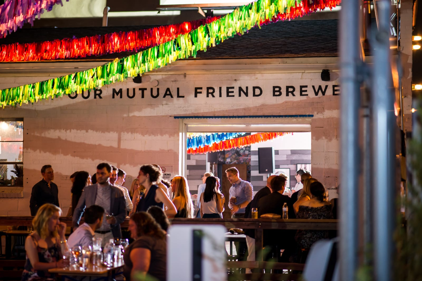 love story   Wedding Photography   Our Mutual Friend Brewing Co.   From the Hip Photo