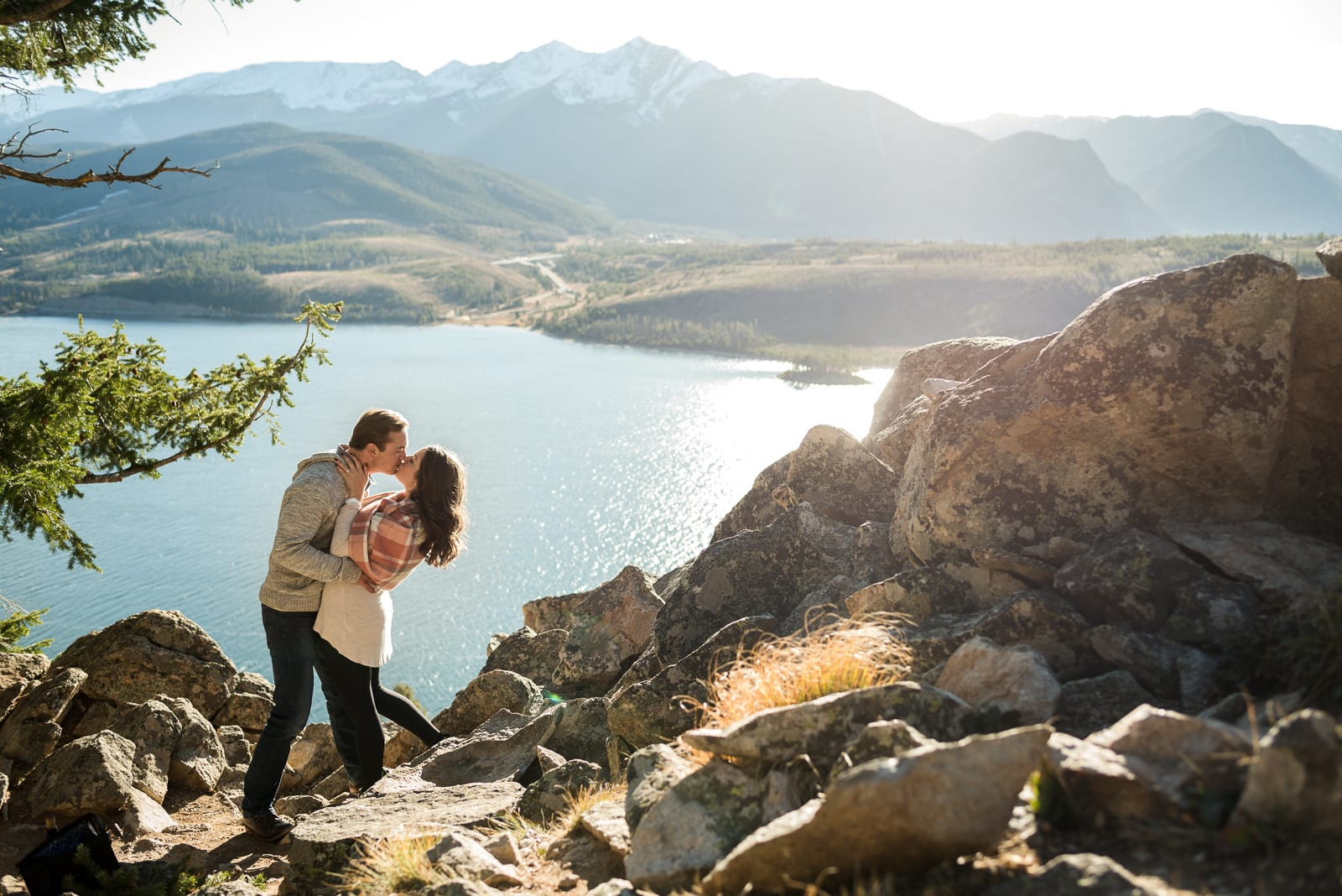 A Blissful Lake Dillon Engagement   Engagement Photos   Lake Dillon   From the Hip Photo