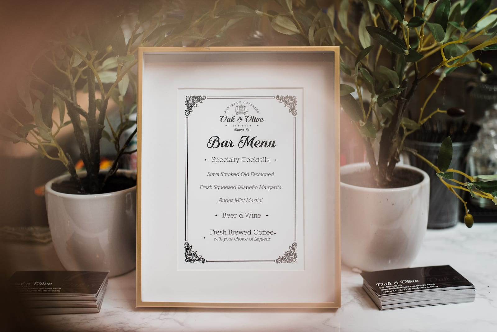 Oak & Olive | Bar and Beverage Catering | Corporate Photography | From the Hip Photo