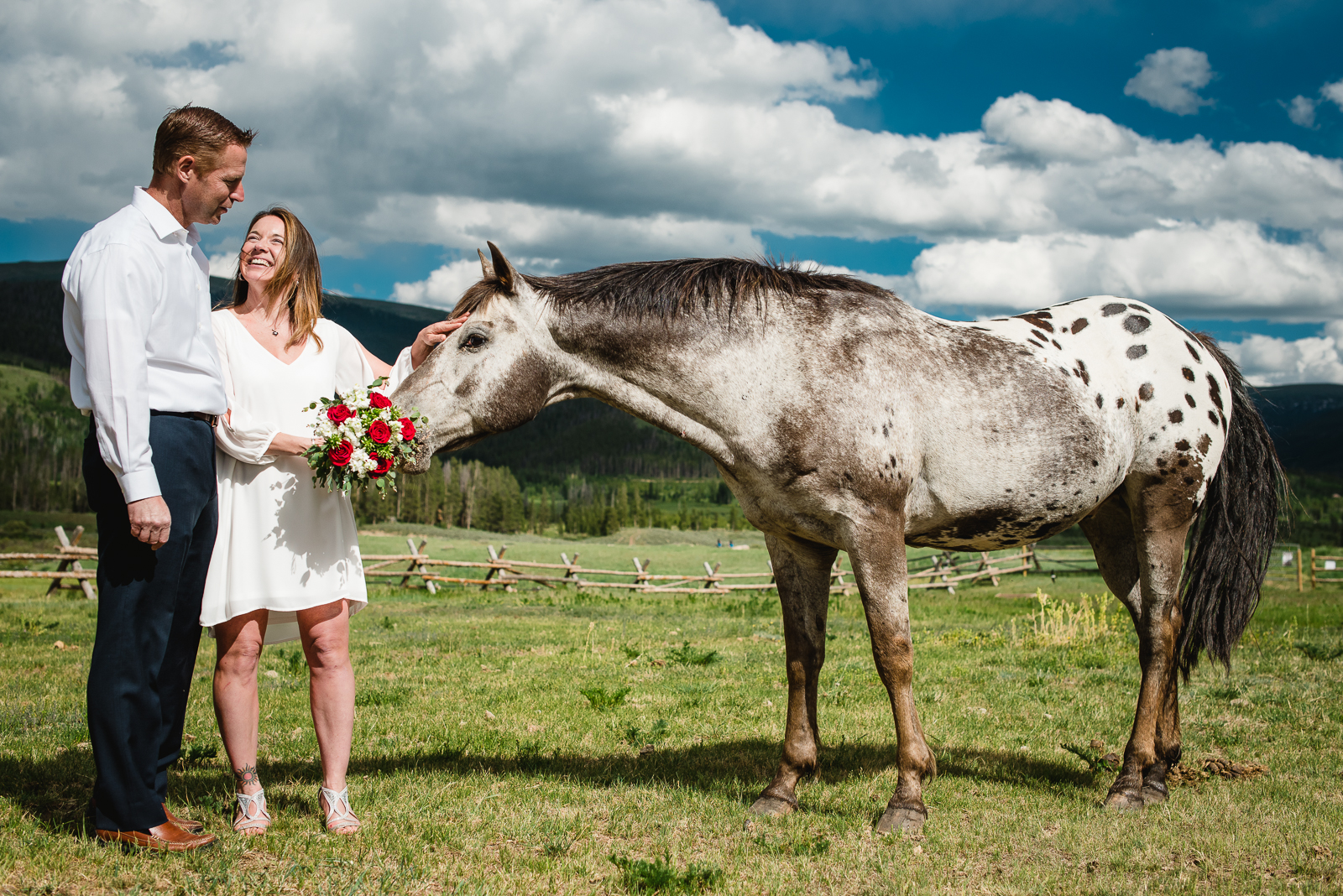 An Exceptional Devil's Thumb Wedding   Wedding Photo   Devil's Thumb Ranch  From the Hip Photo