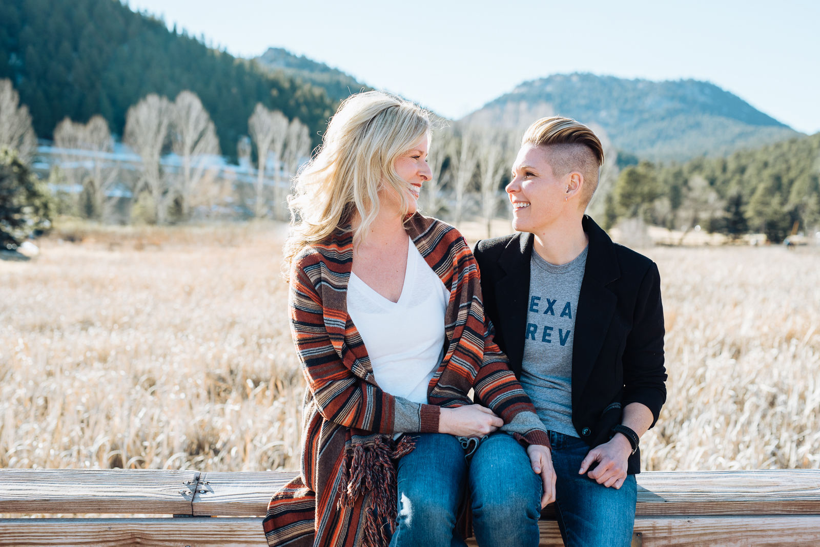 Lisa & Jen   An Evergreen Lake Engagement