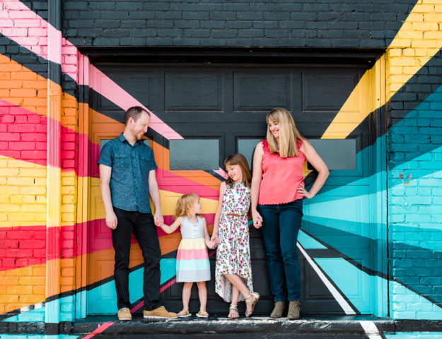 Colorful Personality | Hailey & Kevin Family Shoot