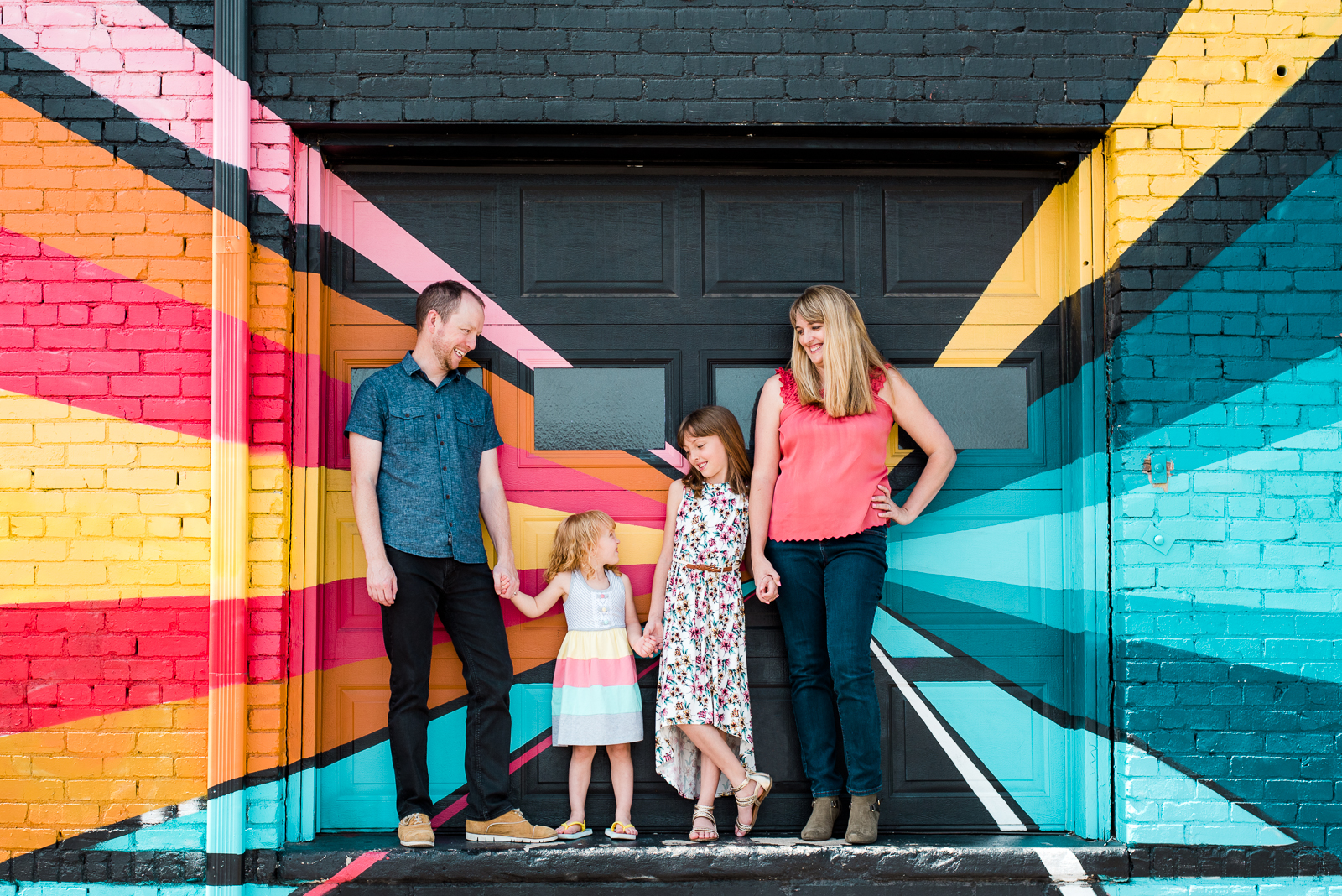 Colorful Personality of RiNo | Hailey & Kevin Family Shoot