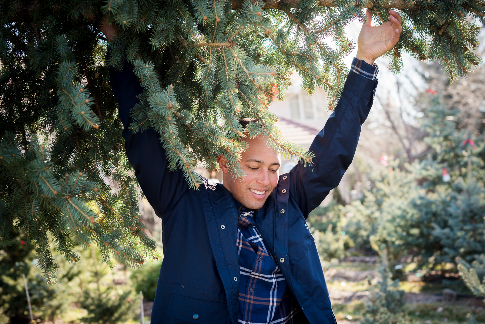 Holiday Fun | Family Photo | Creekside Tree Nursery | From the Hip Photo
