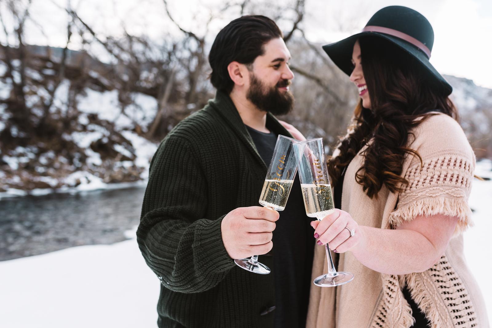 Engagement at Clear Creek | Danielle & Eli Engagement