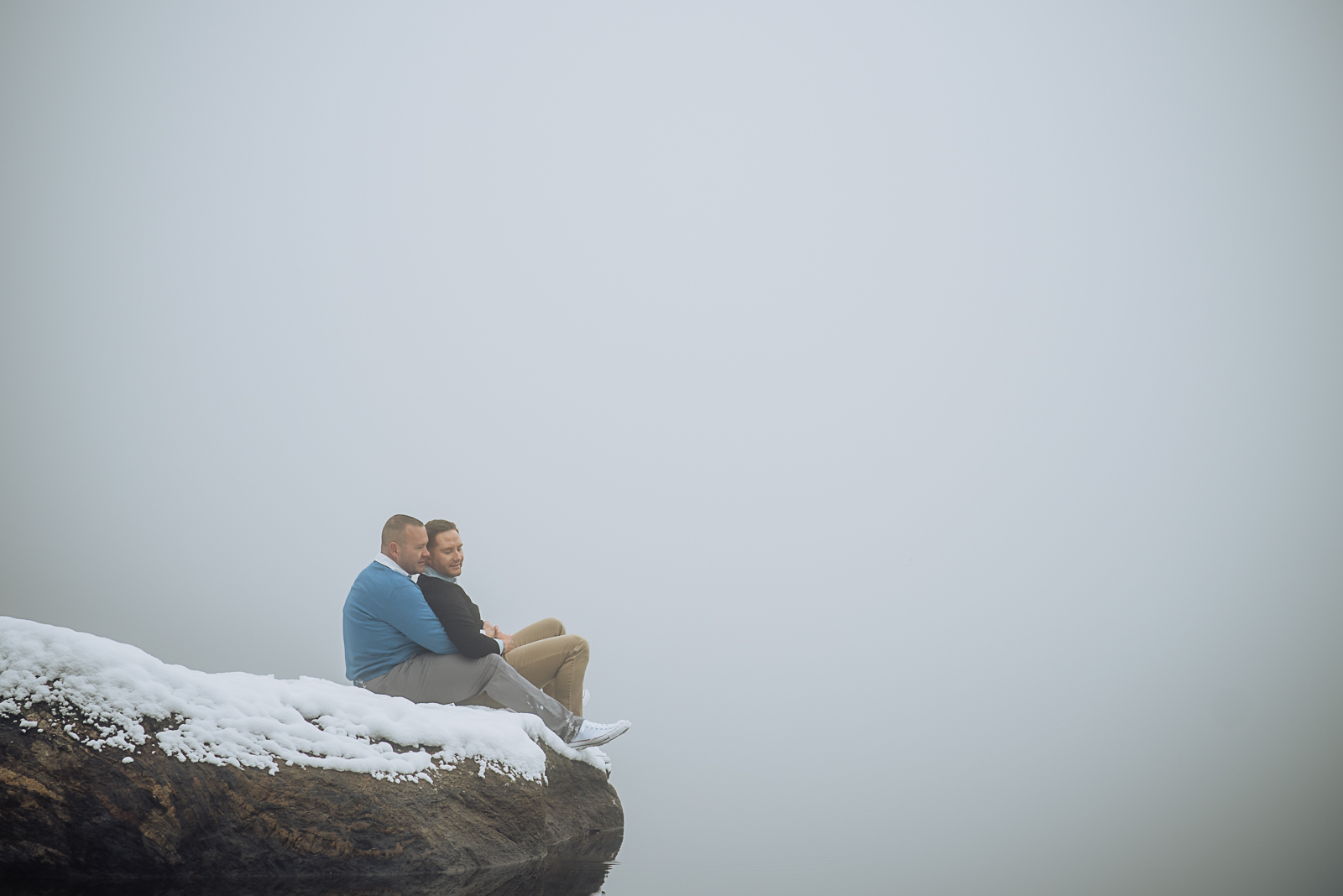 The Warmth of Love | Luke & Brian Rocky Mountain National Park Engagement Photos