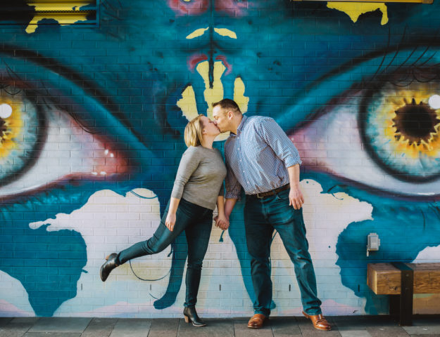 Kissing Couple | Intimate Engagement at Union Station