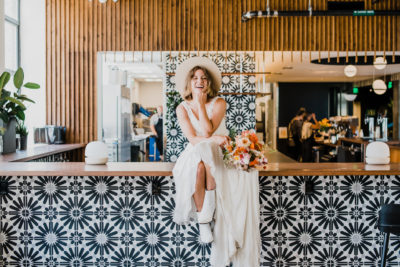 Nurture Wellness Stylized Editorial Happy Bride Photo | Denver Colorado Venue Photographer
