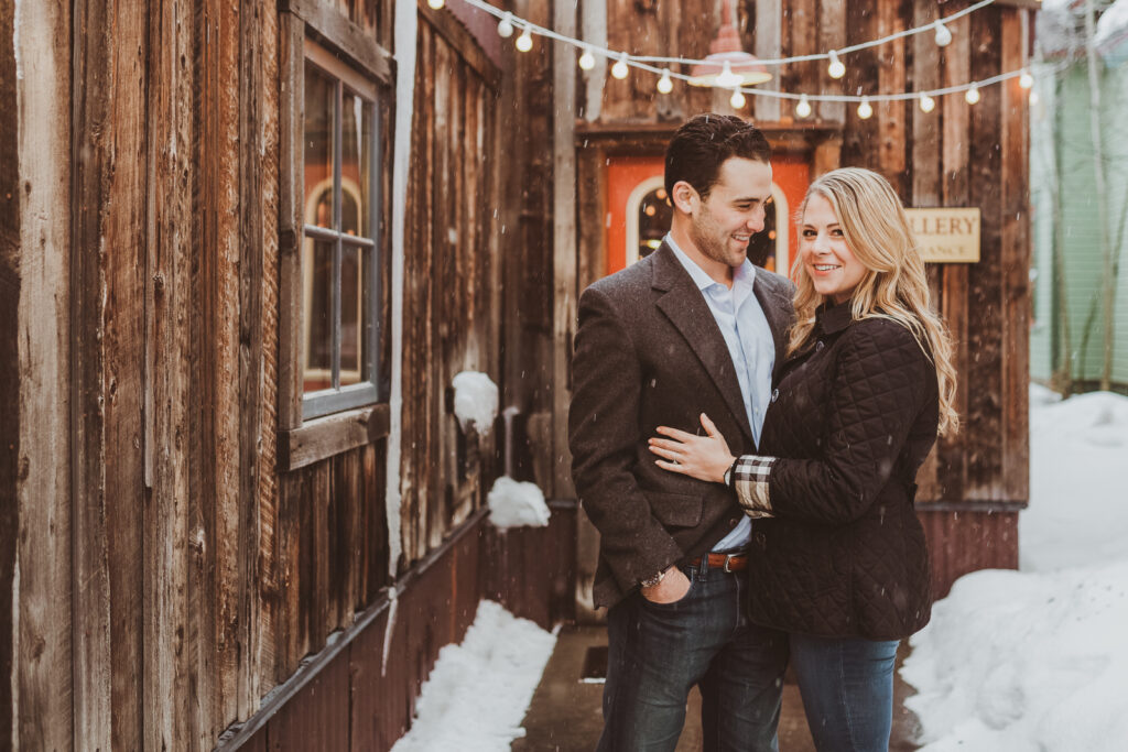Breckenridge outdoor mountain nature loving candid fun adventurous engagement picture | From the Hip Photo Denver Colorado portrait photography