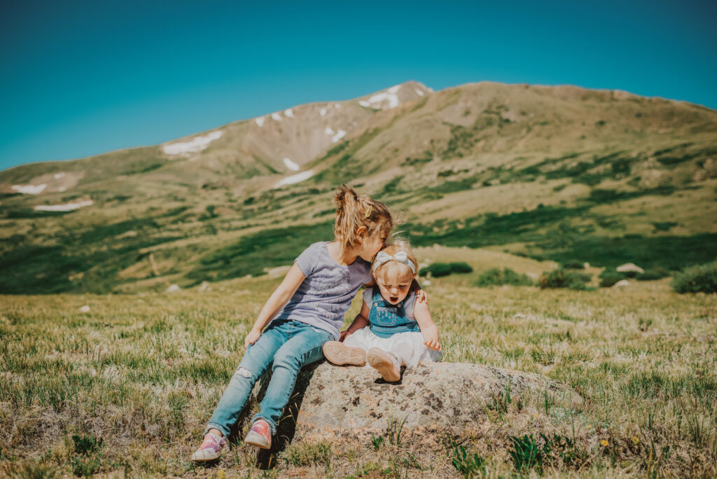 Guanella Pass outdoor mountain nature candid fun loving adventurous family picture | From the Hip Photo Denver Colorado portrait photography