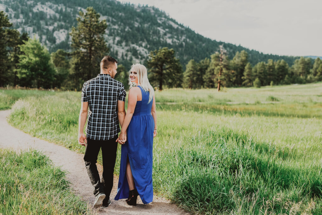 Alderfer/Three Sisters Park outdoor nature trail barn candid fun loving engagement picture | From the Hip Photo Denver Colorado portrait photography