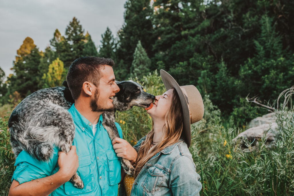 Castlewood Canyon State Park Franktown Colorado outdoor nature adventurous candid fun engagement picture   From the Hip Photo Denver portrait photography