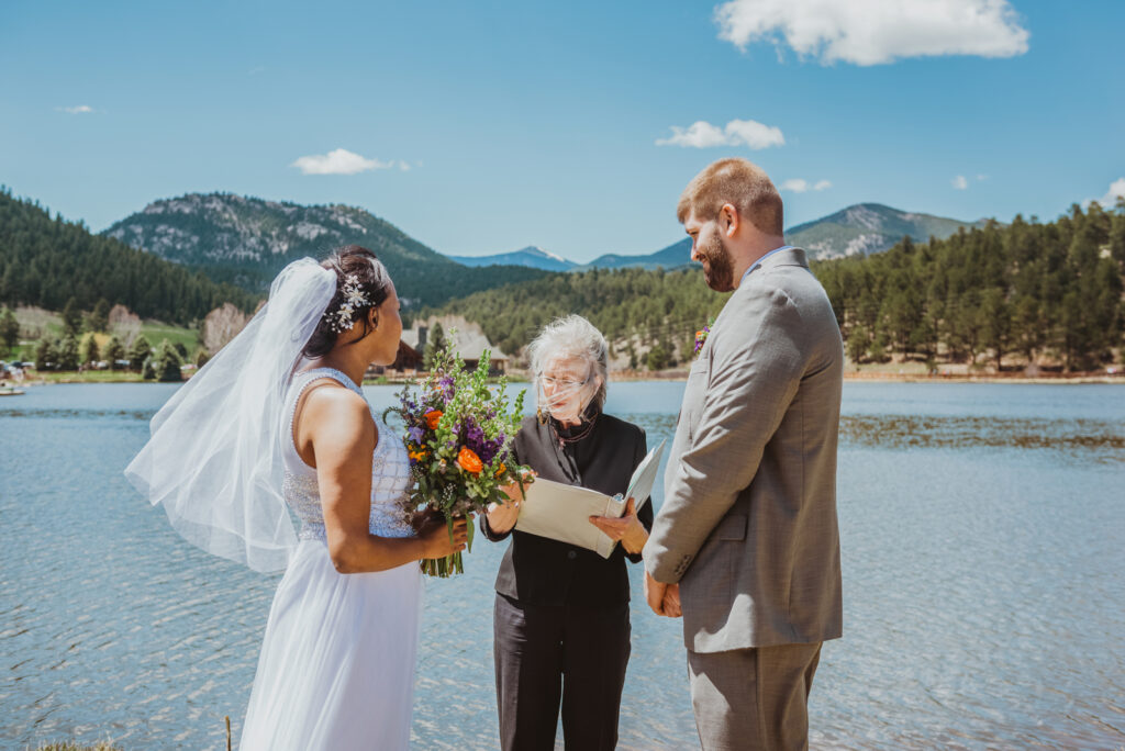 Evergreen Lake House outdoor lake nature trail adventurous candid fun wedding picture | From the Hip Photo Denver Colorado portrait photography