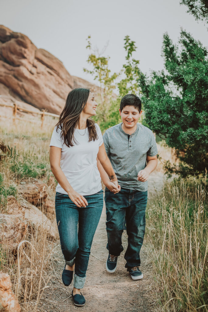 Red Rocks Park and Amphitheater outdoor park nature venue fun candid family picture | From the Hip Photo portrait photography