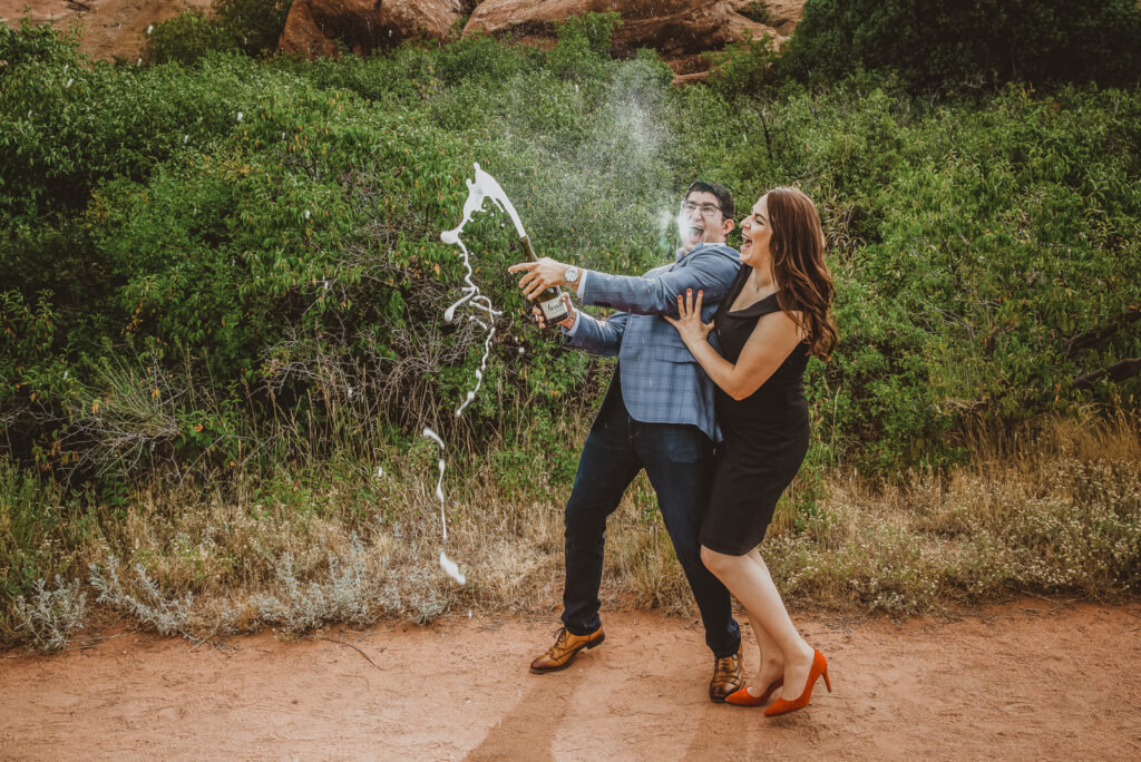 Red Rocks Park and Amphitheater outdoor park nature venue fun candid engagement picture | From the Hip Photo portrait photography