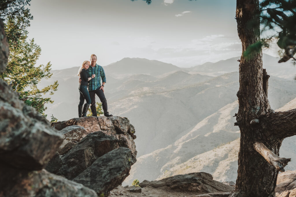 Lookout Mountain Golden Colorado outdoor mountain nature candid fun engagement picture | From the Photo Denver portrait photography