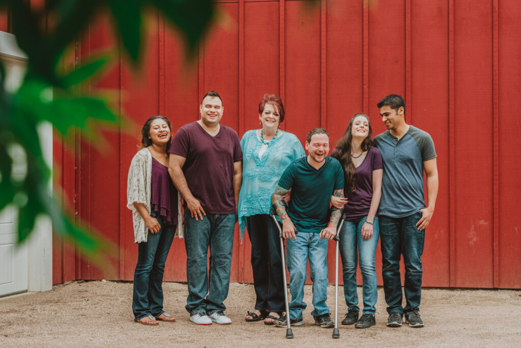 Hudson Gardens outdoor garden park  floral plants candid fun loving family picture | From the Hip Photo Denver Colorado portrait photography