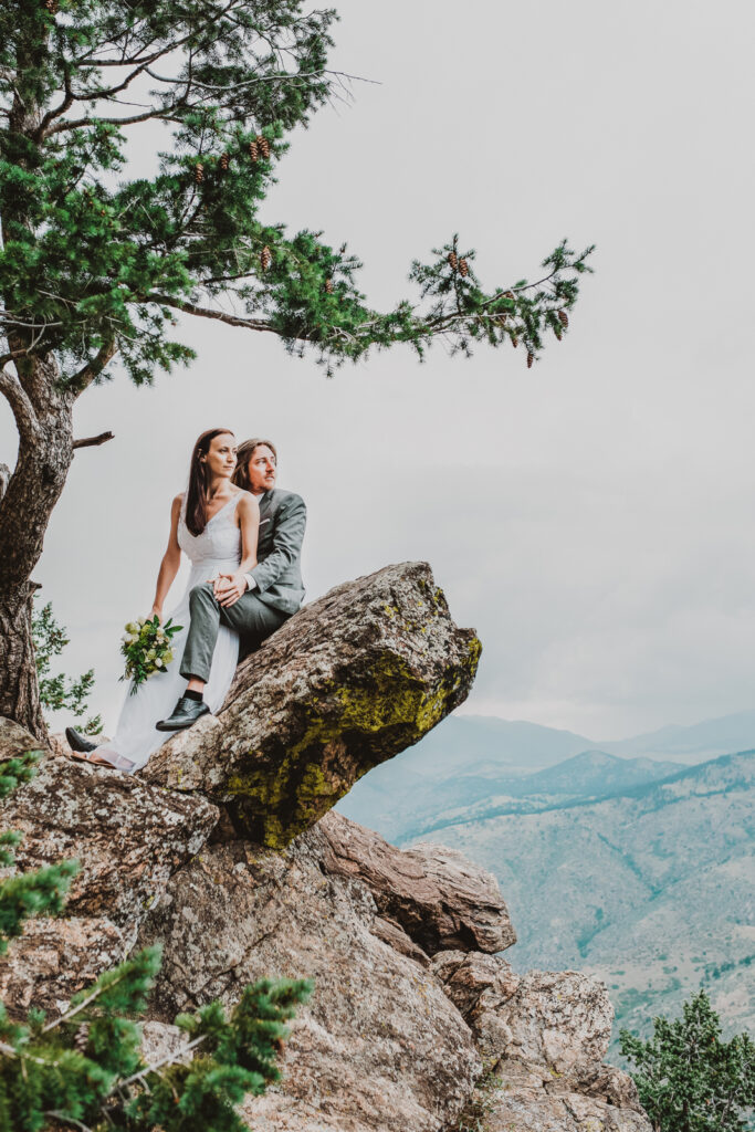 Lookout Mountain Golden Colorado outdoor mountain nature candid fun wedding picture | From the Photo Denver portrait photography