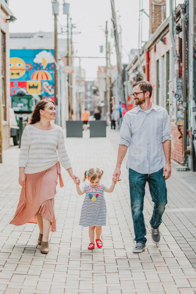 RiNo Art District Denver Colorado mural bold hippy fun candid colorful family picture   From the Hip Photo portrait photography
