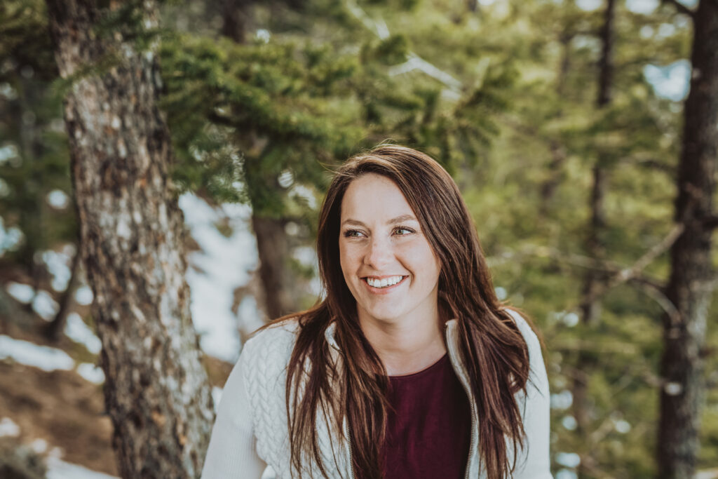 Lookout Mountain Golden Colorado outdoor mountain nature candid fun senior headshot picture | From the Photo Denver portrait photography