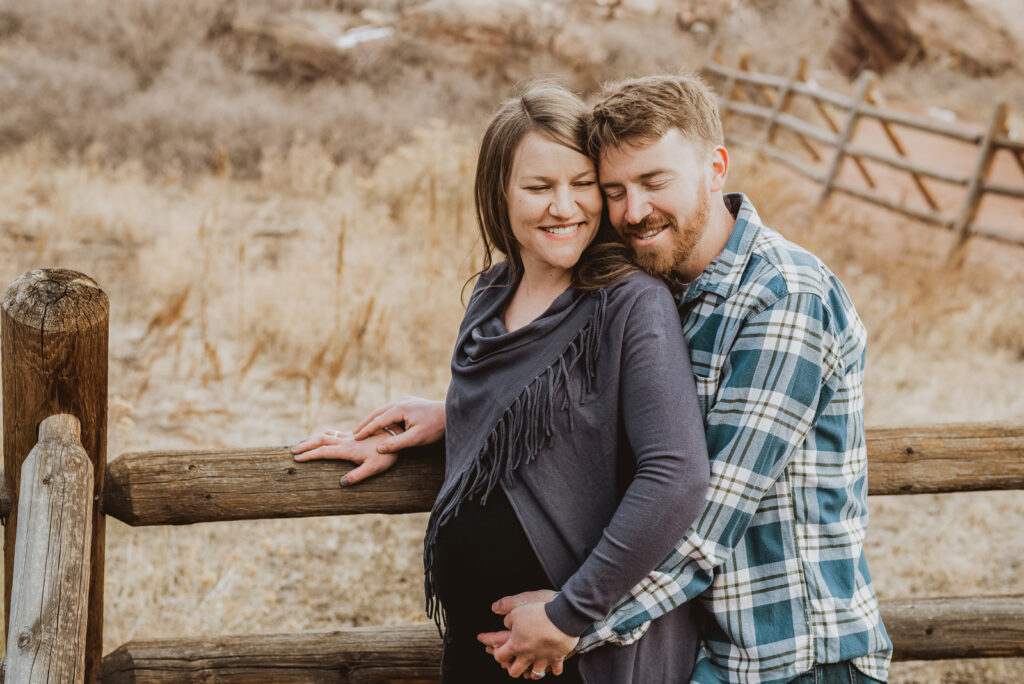 Red Rocks Park and Amphitheater outdoor park nature venue fun candid maternity picture | From the Hip Photo portrait photography