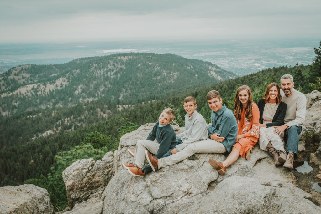 Lost Gulch Overlook Boulder Colorado outdoor mountain views fun candid family pictures | From the Hip Photo portrait photography