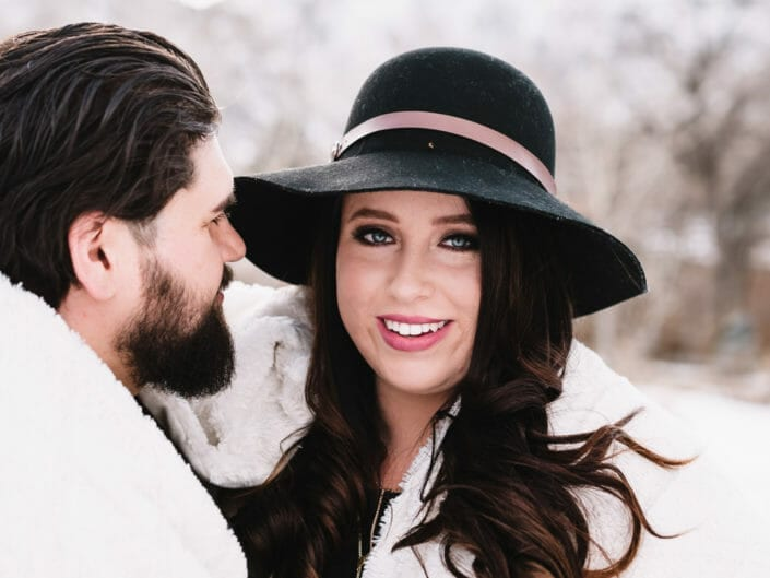 Snowy Engagement Pictures - Denver Colorado | From the Hip Photo