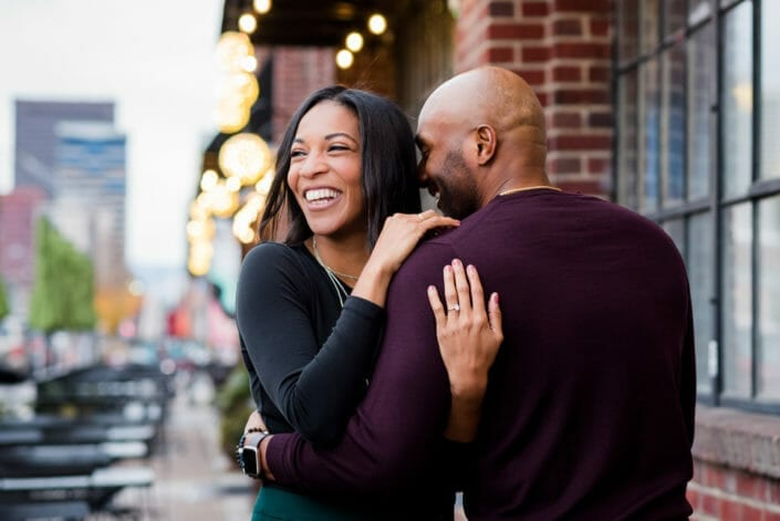Downtown Denver Engagement Photos | From the Hip Photo