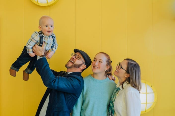 Vibrant Family Photos at Stanley Marketplace in Denver | From the Hip Photo