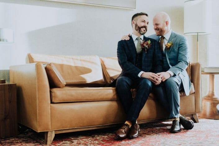 Couple's wedding photos | Colorado LGBTQ wedding photography | From the Hip Photo