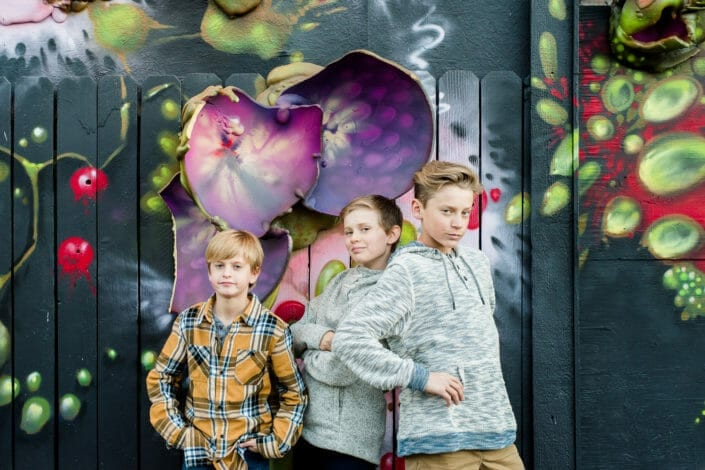 Urban Mural Graffiti Family Photo Inspiration | From the Hip Photo