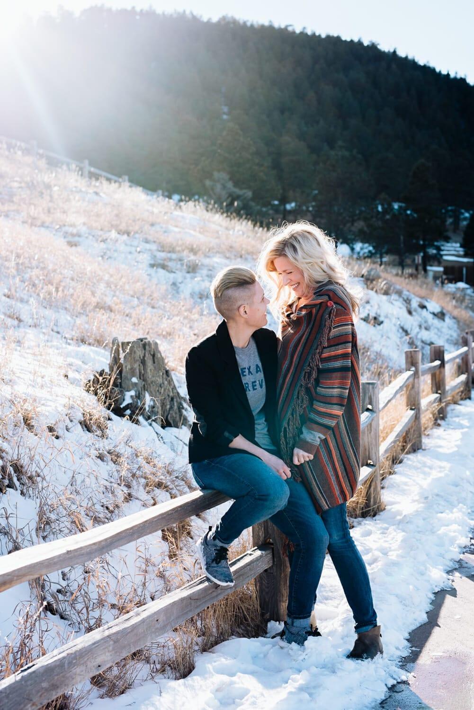 Mountain engagement photography | Colorado same-sex engagement photography | From the Hip Photo
